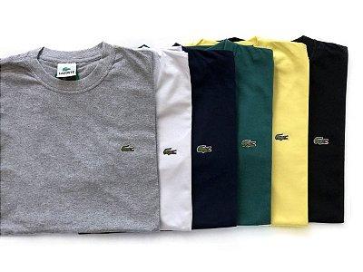Kit Com 5 Camisetas Básica Manga Curta Lacoste