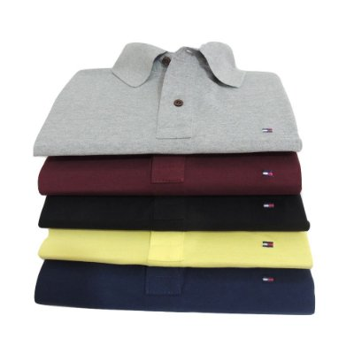 Kit Com 5 Camisa Polo Manga Curta Tommy