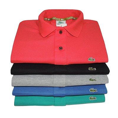 Kit Com 5 Camisa Polo Manga Curta Lacoste