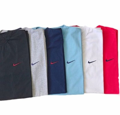 Kit Com 5 Camisetas Básica Manga Curta Nike
