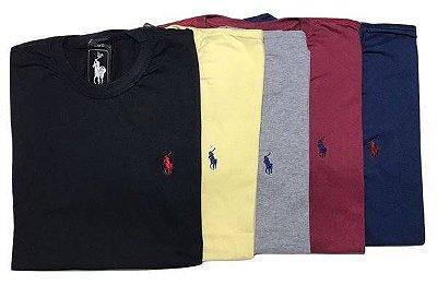 Kit Com 5 Camisetas Básica Manga Curta Polo Ralph Lauren