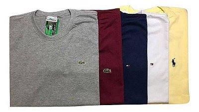 Kit Com 5 Camisetas Plus Size Marca Variadas G1-G2-G3