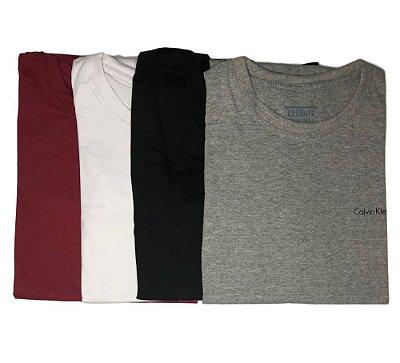Kit Com 3 Camisetas Básica Manga Curta Calvin Klein