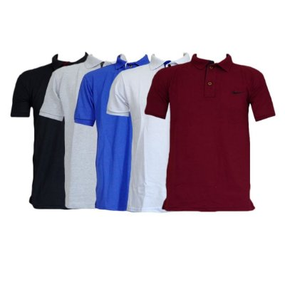 Kit Com 5 Camisa Polo Manga Curta Nike