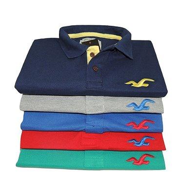 Kit Com 10 Camisa Polo Manga Curta Hollister