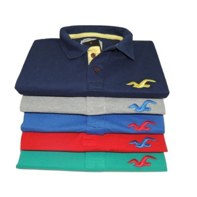 Kit Com 5 Camisa Polo Manga Curta Hollister