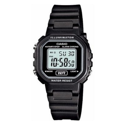 Relógio Casio Feminino Preto Quadrado Pequeno Digital + NF