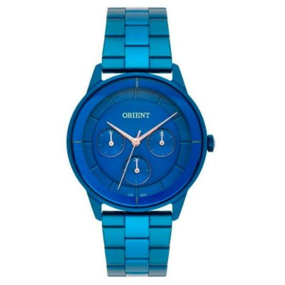 Relógio Feminino Azul Orient com Data Multifunção Prova D'Água