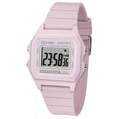 Relógio Feminino Digital Quadrado Rosa X-Games Silicone + NF