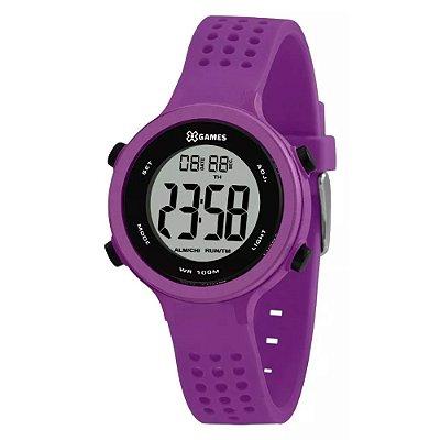 Relógio Feminino Roxo X-GAMES Digital Pulseira da Silicone