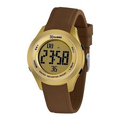 Relógio Feminino  Marrom e Dourado Digital X-Games Original