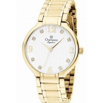 Relogio Feminino Dourado Champion com Pedras Elegance CN2683
