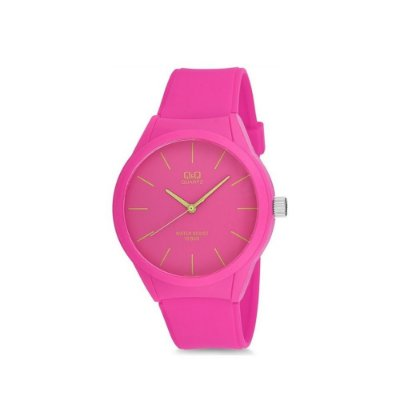 Relógio Feminino Rosa Ponteiro Prova DÁgua Pulseira Silicone