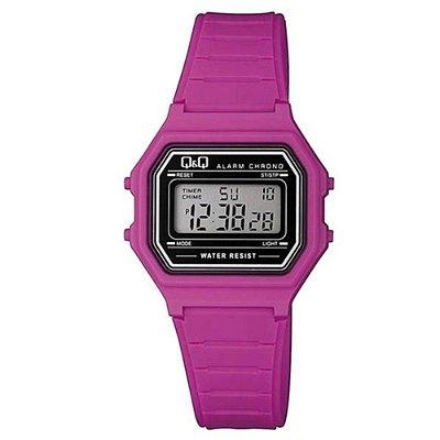 Relógio Infantil Feminino Rosa Digital Quadrado Original Q&Q