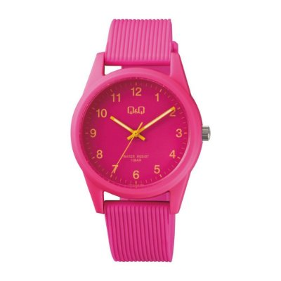 Relógio Feminino Rosa Ponteiro Pulseira de Silicone Original