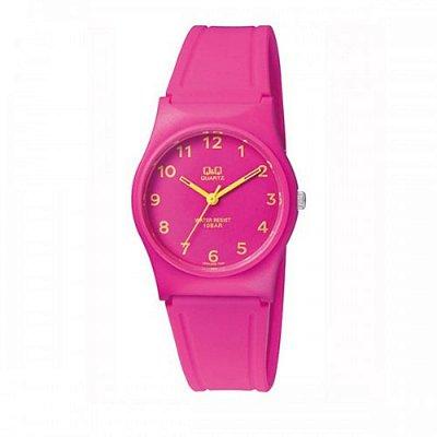 Relógio Feminino Rosa Ponteiros Amarelo Prova D'Agua +NF