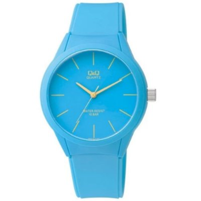 Relógio Azul Feminino Prova D'Agua Pulseira Silicone +NF
