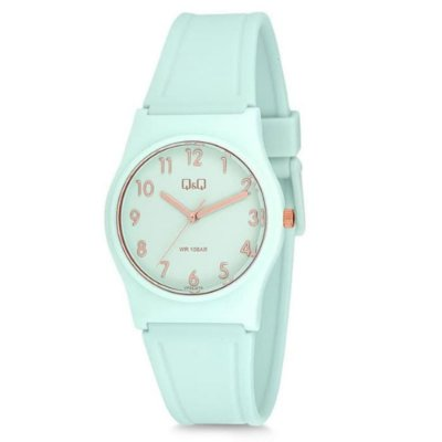 Relógio Feminino Verde Detalhes Rose Ponteiros Original +NF