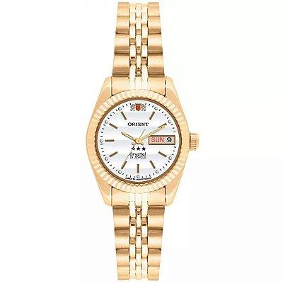 Relógio Feminino Orient Automático Dourado Com Data Original