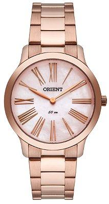 Relógio Feminino Rose Orient Madrepérola Ponteiro Origina+NF