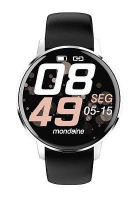 Smartwatch IOS e Android Prova D'Água Prata Original+NF