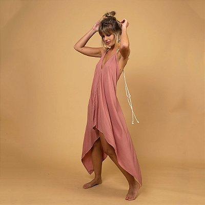 Vestido Pontas Rosé
