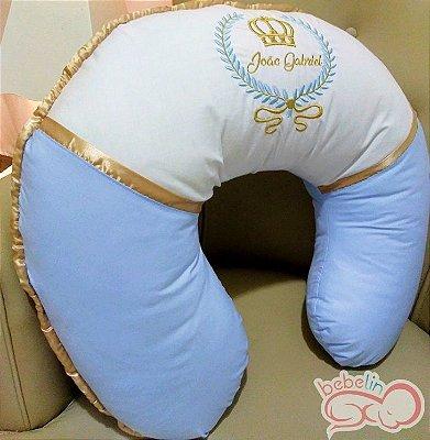 Almofada de Amamentação Personalizada Azul Bebê