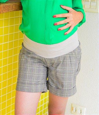 Shorts Social Xadrez Gestante Due Vita