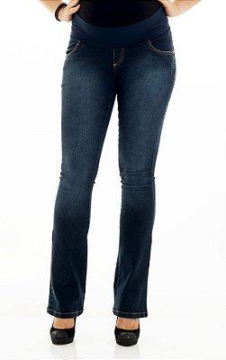 Calça Jeans Flare Conforto Flex Um a Nove Gestante