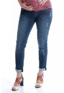 Calça Jeans Gestante Barra Virada