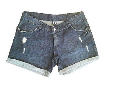 Shorts Jeans Gestante Barra Dobrada
