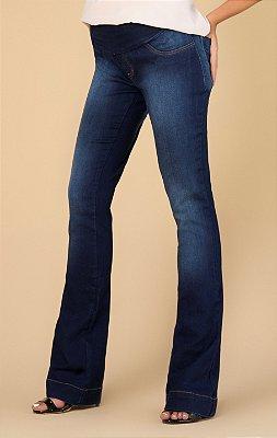 Calça Jeans Gestante Flare Megadose