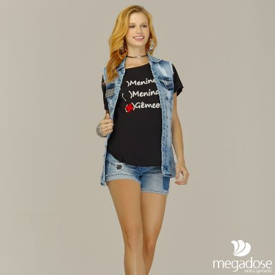Colete Jeans Tachas Megadose