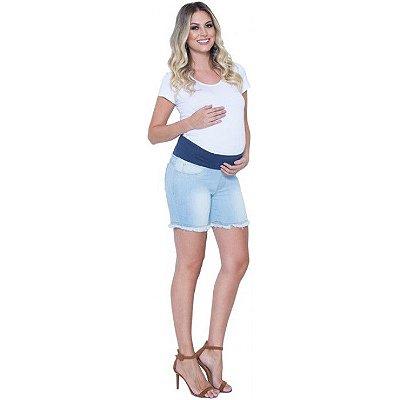 Shorts Gestante Barra Desfiada