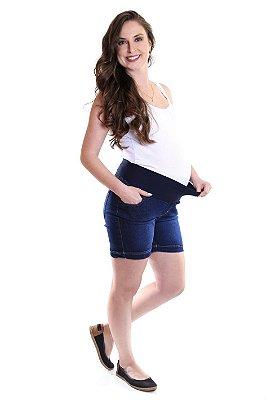 Shorts Jeans Gestante e Cia