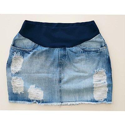 Saia Jeans Gestante Megadose