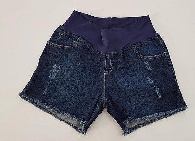 Shorts Jeans Matterna Barra Desfiada