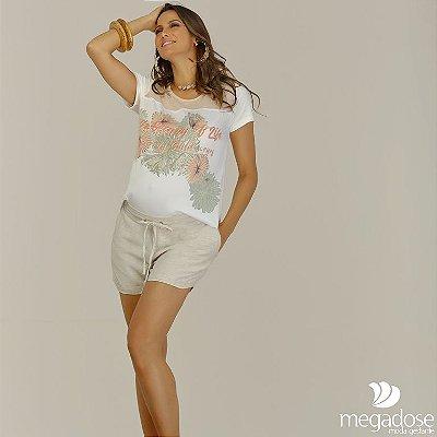 Shorts Linho Gestante Megadose