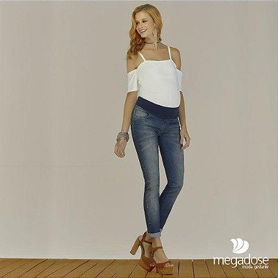 Calça Jeans Skinny Gestante