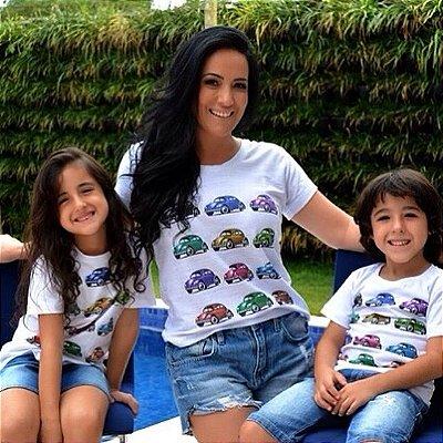 Camisetas Tal Mãe Tal Filhos Fusca Feminina Adulto
