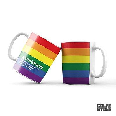 Caneca Resistência LGBTQIA+