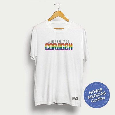CAMISA CORAGEM LGBT branca