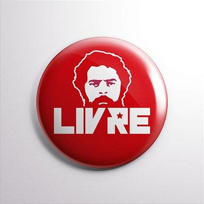 Botton Lula Livre Vermelho