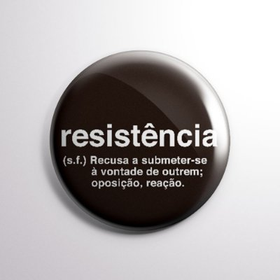 Botton da Resistência Preto