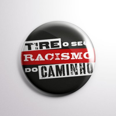 BOTTON TIRE SEU RACISMO preto
