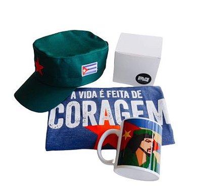 Combo Coragem Che Guevara - 3 pçs - camisa, cap e caneca