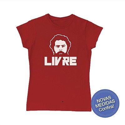 Camisa Babylook Lula Livre