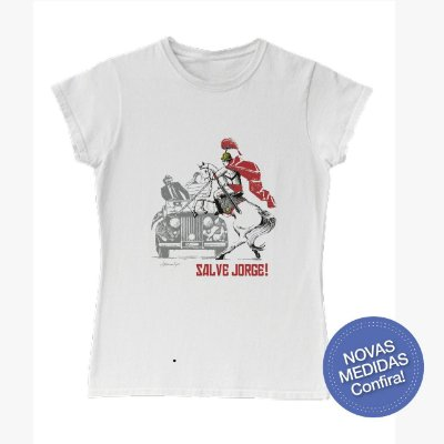 Camisa Babylook Salve Jorge com carro - Red Friday