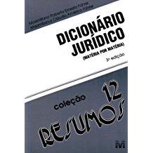 RESUMO (12) DICIONARIO JURIDICO - COL. RESUMOS