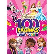 DISNEY - 100 PAGINAS PARA COLORIR - MENINAS